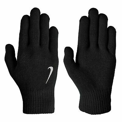 Nike Genuine Stretchy Warm Knitted Winter Gloves Sports Mens Football Black S223