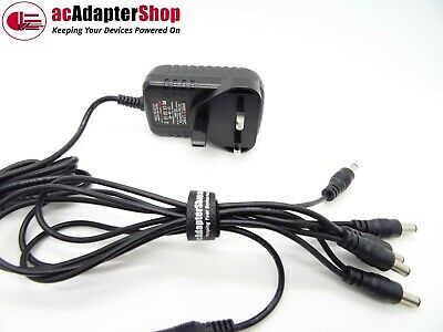 UK AC//DC 9V POWER SUPPLY PLUG TO FIT BOSS PSA240 EFFECTS PEDAL 5 WAY DAISY CHAIN
