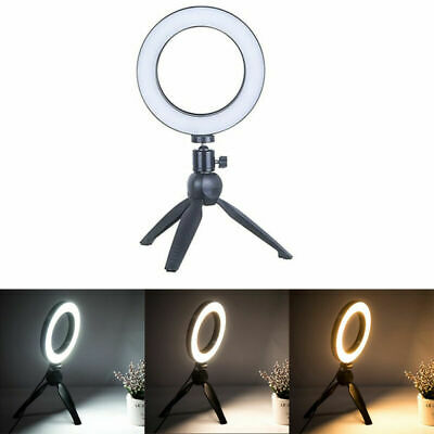 LED Ring Light Studio Photo Video Dimmable Lamp Tripod Stand Selfie Tool Camera