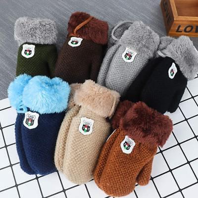 Winter Boys Girls Knitted Gloves Warm Rope Full Finger Mittens Gloves For Kids