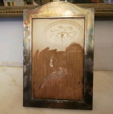 ANTIQUE ART DECO SOLID SILVER PICTURE FRAME BY BRITISH METALLISING Co.Ltd.-1932