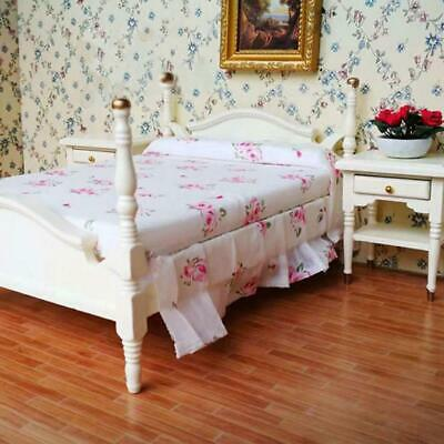 6pcs / set Wooden Mini Bedroom Set Furniture for 1:12 Scale Dollhouse Gifts