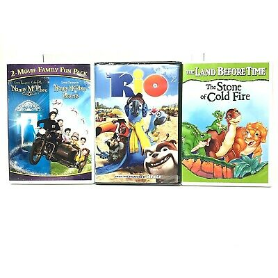 DVD Lot Rio Nanny McPhee Returns The Land Before Time 7 The Stone of Cold Fire