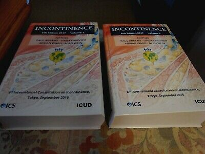 Incontinence 6th Edition 2017 Volume 1 & 2 NEW.. yours for £14 free post