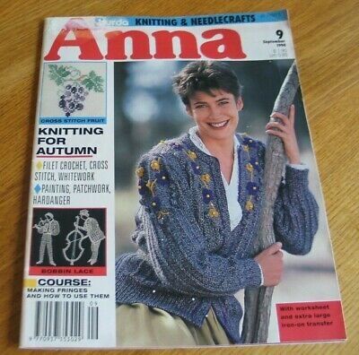 Burda Anna Knitting & Needlecrafts Magazine  September 1994  Knitting For Autumn