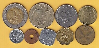 Philippines   small lot of 9 coins ......................... 12