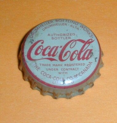 Coca Cola Bottle Cap / Crown Cork Lined - Coca Cola Co Drumheller Alberta Canada