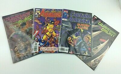 MARVEL 4 Comic Earth's Mightiest Heroes The Avengers,Captain America & Other VGC