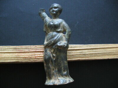 ANCIENT ROMAN BRONZE FIGURE OF YOUNG WOMAN 1-3 ct.AD from SIRMIUM 113 mm