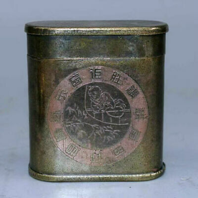 AAA Collectable China Old Tibet Silver Hand-Carved Delicate Precious Tobacco Box