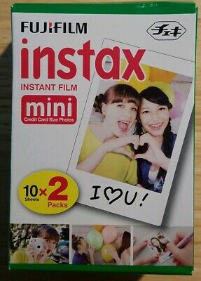 Fujifilm Instax Mini Instant Film Twin Pack for Fuji 50s 25 7s 90 8 & 9 Exp.1/19