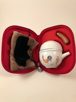 Portable Tea Set With Case Chinese Wooden Handle
