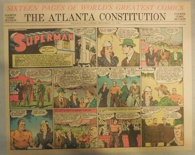 Superman Sunday Page #47 by Siegel & Shuster from 9/22/1940 Half Page: Year #1!