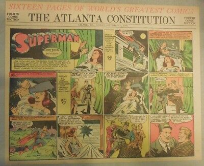 Superman Sunday Page #44 by Siegel & Shuster from 9/1/1940 Half Page: Year #1!