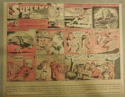 Superman Sunday Page #106 by Siegel & Shuster from 11/9/1941 Half Page:Year #3!