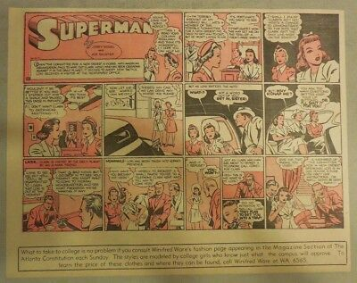 Superman Sunday Page #93 by Siegel & Shuster from 8/10/1941 Half Page:Year #2!