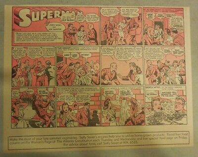 Superman Sunday Page #95 by Siegel & Shuster from 8/24/1941 Half Page:Year #2!