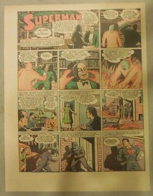 Superman Sunday Page #155 by Siegel & Shuster from 10/18/1942 Half Page:Year #3!
