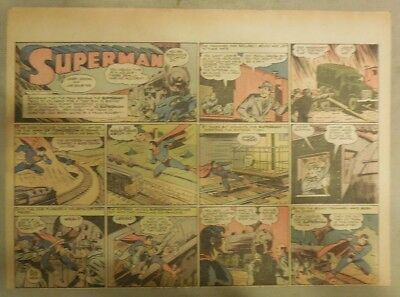 Superman Sunday Page #140 by Siegel & Shuster from 7/5/1942 Half Page:Year #4!
