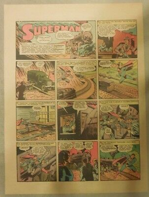 Superman Sunday Page #140 by Siegel & Shuster from 7/5/1942 Half Page:Year #3!