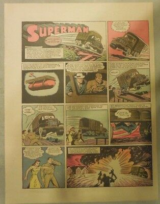Superman Sunday Page #147 by Siegel & Shuster from 8/23/1942 Half Page:Year #3!