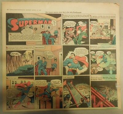 Superman Sunday Page #180 by Siegel & Shuster  4/11/1943 2/3 Full Page:Year #4!