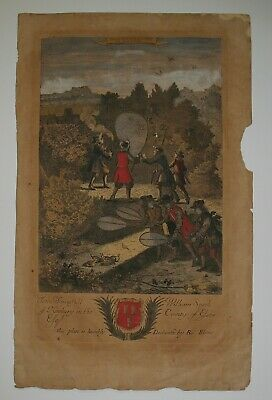 1686 Engraved Color Etching from Richard Blome 's 'Gentleman's Recreation'