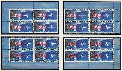 CANADA MATCHED SET OF PB1809MNH 16 x 46c NATO - NATO FLAGS