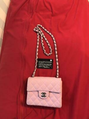Chanel Shoulder Bag Light Pink Authentic Mini Small Size Women Ladies Fashion
