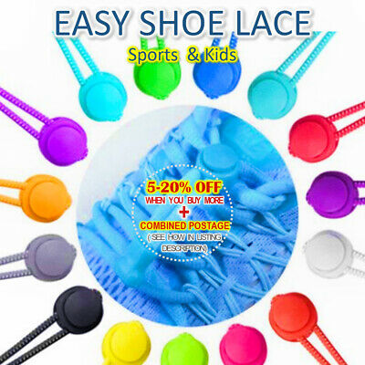 Easy Sports Kids Adult Shoe Laces, Lock No-tie, Jogging, Elderly Child, Lazy tie