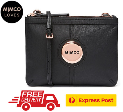 Mimco Mim Couch Hip Bag Black Rose Gold Bnwt Dustbag Rrp$199 - Express Post