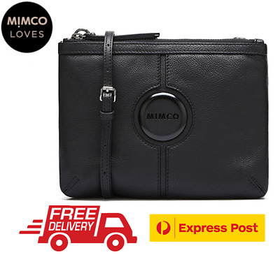 Mimco Mim Couch Hip Bag Matte Black Hardware Bnwt Dustbag Rrp$199- Express Post