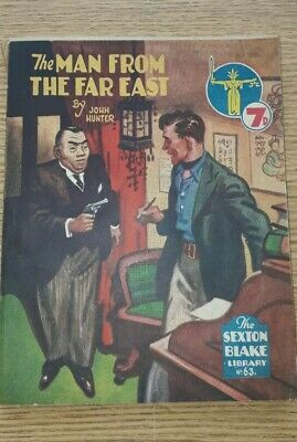 Sexton Blake Library 3rd Series No 63 comic magazine war crime thriller vintage