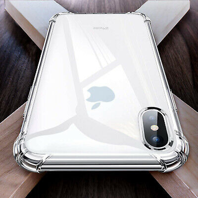 Thick Clear Transparent TPU Case For iPhone XS MAX XR X Strong Rubber Protection