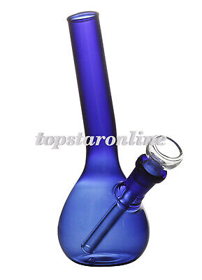 6.7 inches Blue Glass Hookah Smoking Water Pipe Bong Bubbler &Free Grinder