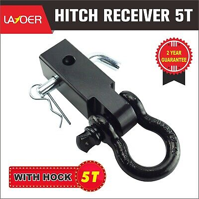 5T Hitch Receiver Tow Bar Recovery Receiver with Bow Shackle Towbar 4WD Off Road