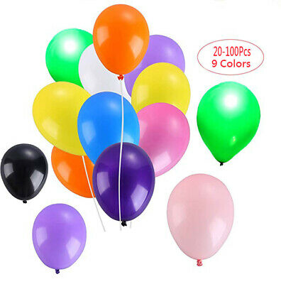 100Pcs Latex Helium Balloons 10 Inches Inflatable Wedding Decor Air Balls Party