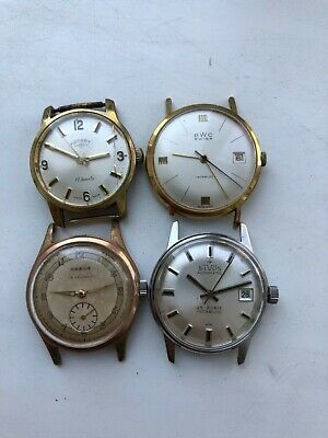 Lot of 4 Swiss Made Watch Rotary , BWC, HABOR, SIVOS