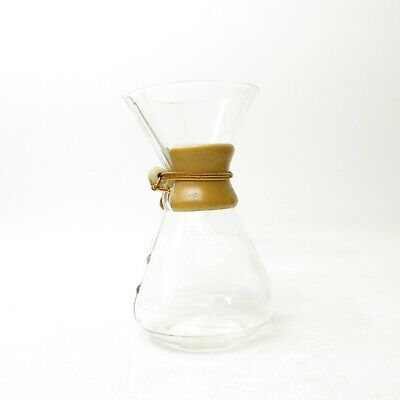 """Vintage XL Pyrex Chemex 11"""" Pour Over Coffee Maker Pot Green Stamp 8 Cups"""