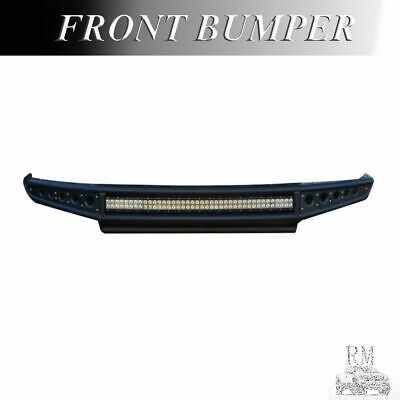Front Bumper For 2014-15 Chevy Silverado 1500 w//Imp Bar Skid Plate//FL Holes Blk