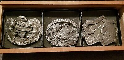 Harley-Davidson Baron Ltd. Edition 1994 Commemorative Eagle Buckle Set 3 #6649