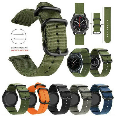 18-24mm Nylon Fabric Canvas Wrist Watch Band Strap Classic Buckle Quick Release