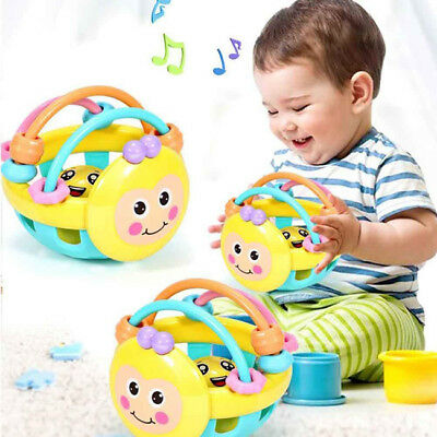 Kids Activity Toys Ball Toddler Fingers Colorful Fun Playtime Hand Rattle FA