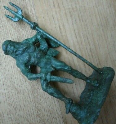 Ancient Roman Legionary Military Bronze Figurine Statue depicting NEPTUNE UNIQUE
