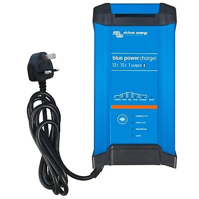 Victron 15A 12V Blue Smart IP22 mains battery charger with Bluetooth inbuilt