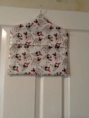 "EXCLUSIVE Handmade ""PUGS"" PVC Pegbag With Wooden Hanger & Envelope Closure"