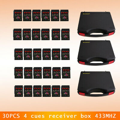 30PCS 4 cues receiver box 433MHZ for fireworks firing system