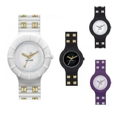 Orologio HIP HOP ROCK Collection 32mm Silicone Bianco Nero Viola Gold Borchie