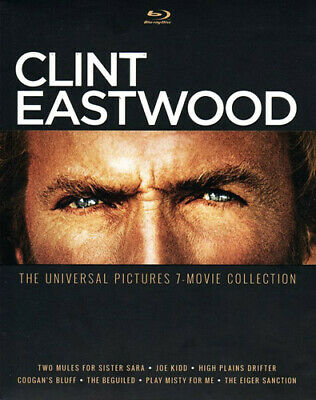 Clint Eastwood: The Universal Pictures 7 Movie Collection (7 Disc) BLU-RAY NEW