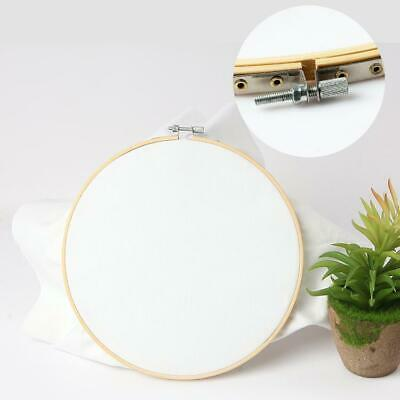 """5.1""""-13.4"""" Budget Bamboo Hand Embroidery Cross Stitch Tapestry Ring Hoop Frame"""